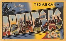Large Letter postcard Greetings from Texarkana Arkansas