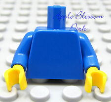NEW Lego Girl Boy Minifig Plain BLUE TORSO Minifigure Blank Upper w/Yellow Hands