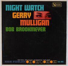 GERRY MULLIGAN: Night Watch w/ Bob Brookmeyer UA Mono EAR Jazz LP VG++