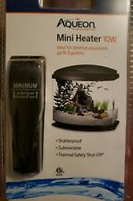 AQUEON 100106193 Black MINI FISH TANK HEATER 10 WATTS BLACK