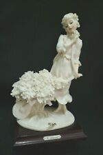 Giuseppe Armani Figurine Lady With Flower Cart #0468F New Condition