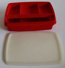 Vintage Tupperware Stow N Go Red Craft Sewing Money First Aid Tackle Jewelry Box