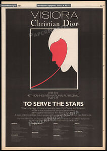 CHRISTIAN DIOR at Cannes Film Festival__Orig. 1986 Trade print AD promo / poster