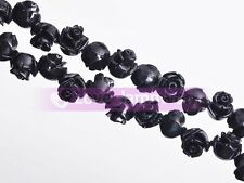 Lot Bulk 20pcs 8mm Coral Resin Carved Flower Loose Spacer Beads Jewelry Making