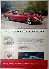 ✇ original prospectus Jaguar E E-type 4.2 LTR. grand format-rare Big brochure