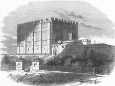 NORFOLK. Norwich Castle, antique print, 1847