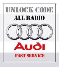 Unlock AUDI RADIO CODE   ALL MODELS   BEST OFFER 