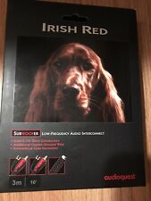 AudioQuest Irish Red Subwoofer Cable 3m / 10ft RCA Low Frequency Wire EUC