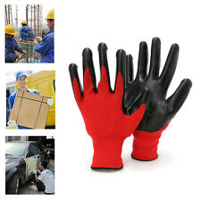 1Pair Nitrile Coated Working Gloves Nylon Safety Factory Labour Garden Repair