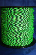 3' BCY Flo Green & Black Speckled D Loop Material  Bowstring Rope Drop Away Cord