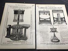 Schneider Bottle Filler 2 Page Beer Ad 1908 Brewery Equipment Chicago
