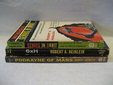 Robert A Heinlein GENIUS IN ORBIT Podkayne of Mars vintage scifi paperback books