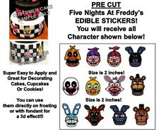 Five Nights at Freddy's Edible Cake Stickers Edible Decal Cut Outs FNAF Cake