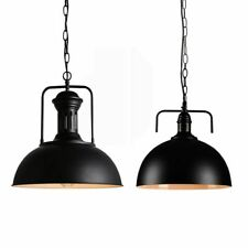 Rustic Industrial Vintage Metal Shade Pendant Light Hanging Ceiling Lamp Fixture