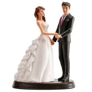 Statuina Topper per Torta Matrimonio Sposi abbracciati in Resina