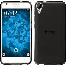 Silicone Case for HTC Desire 825 transparent gray + protective foils