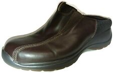 Bass Andes Womens Brown Leather Mules Slide Clogs Shoes Sz 9 1/2 M