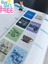 S282-Inspirational Quote, Coffee, Sparkle :Planner Stickers Erin Condren
