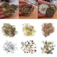 Vintage Punk Metal Mixed Gears Cog Wheel Charms Pendant DIY Jewelry Accessories