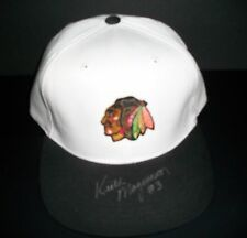 Keith Magnuson signed Chicago Blackhawks baseball cap - Beckett authenticated