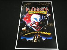 KILLER KLOWNS Cast 4X Signed 11x17 Movie Poster Suzanne Snyder Grant Cramer ++