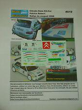 Décals 1/43e Citroën Saxo Kit-Car Patrice Robert Rallye du Muguet 2008