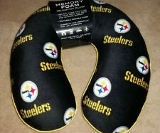 NWT Pittsburgh Steelers Print NFL Memory Foam Relaxation Neck Pillow Football