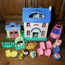 Fisher Price Little People Home Sweet Home Playhouse 1996 Pink Car Accessories