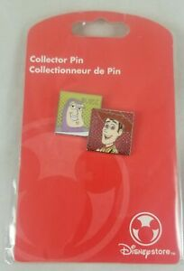 Disney Store Toy Story Buzz & Sheriff Woody Collector Trading Pin