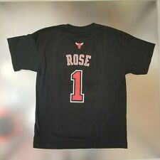 Chicago Bulls Youth Boys adidas Derrick Rose #1 Textured T-Shirt - Black