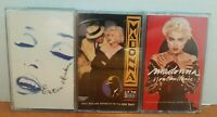 Lot of 3 Madonna Cassettes - Erotica, I'm Breathless, You Can Dance