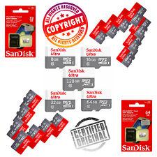 Sandisk 32GB 64GB 128GB Ultra Micro SD SDHC TF tarjeta de memoria 80MBs clase 10 Uhsi