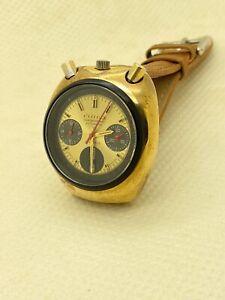 Vintage Citizen Bullhead Chronograph 8110A 23 Jewels Automatic Watch