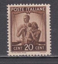 ITALIA 1945 Democratica 20 centesimi bruno nuovo **