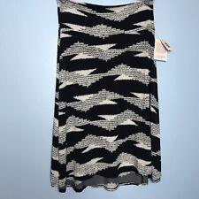 LuLaRoe Black and White Aztec Print Azure Skirt NWT Large