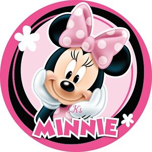 Minnie Mouse 7 Inch Edible Image Cake / Cupcake Toppers/ Birthday