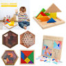 Wooden Building Blocks Kids Children Intellectual Puzzle Jigsaw Educational Toys