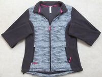 Gray Jacket Coat Ideology Size Medium Women's Woman Polyester Solid Pink Lined