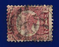 1870 SG49 ½d Rose Plate 6 G4 RD London Good Used Cat £30 crgw