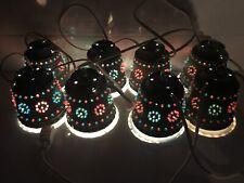 Lawnware Lights Vintage String of 8 Rv Patio Tiki Bar Christmas Hanging Lamp Mcm