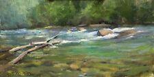 Shane Harris Original Oil Painting Impressionist Summer River
