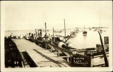 Cape Porpoise Me Dock & Fishing Boats c1920s-30s Real Photo Postcard