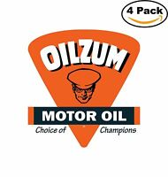10 Round Oilzum Motor Oils and Lubricants Vinyl Decals