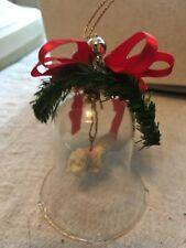 Glass Christmas ornament bell