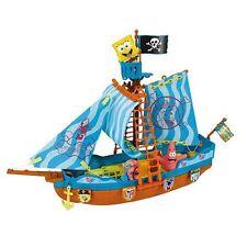 New Spongebob Squarepants Pirate Ship Boat Playset With Figures
