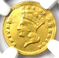 1859-C Indian Gold Dollar G$1 - Certified NGC XF Details - Rare Charlotte Coin!