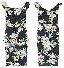 Petite Floral Calf Length Stretch, Bodycon Dresses for Women