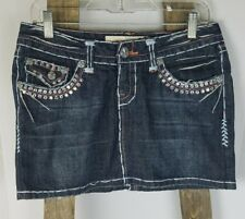Laguns Beach Jeans women size 27 blue jeans skirt distressed embellishments