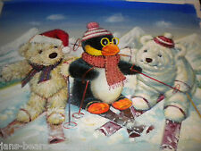 Gund - Snuffles Original Watercolor - Snow Scene