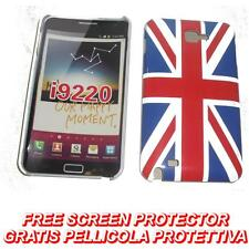 Pellicola + BACK cover UK FLAG NEW per Samsung Galaxy Note I9220 N7000 (B4)